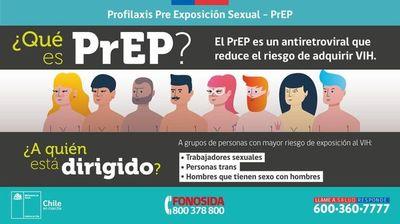 Chile entrega en hospitales públicos pastilla que previene el VIH