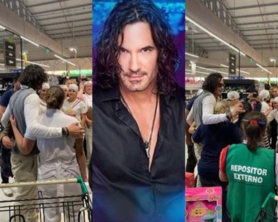 Mario Cimarro fue de compras y alborotó supermercado