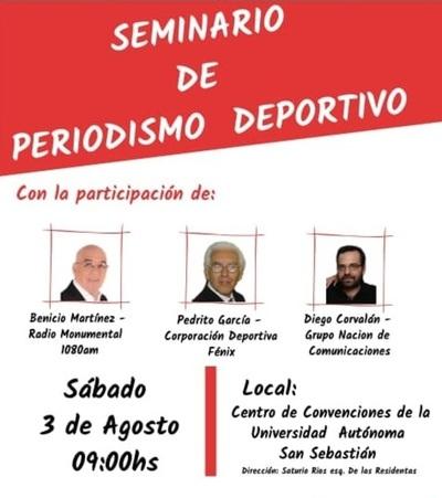 """Este sábado habrá """"Seminario de Periodismo Deportivo"""""""