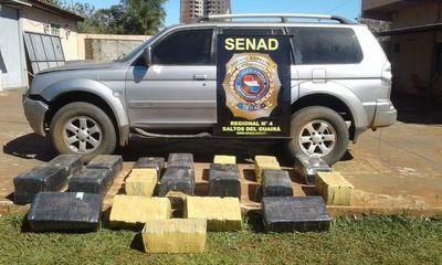 Incautan 350 kilos de marihuana en una camioneta robada del Brasil