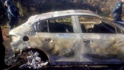 Hallan al menos un cuerpo calcinado en vehículo con chapa paraguaya en Brasil