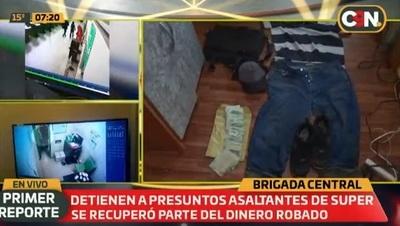 Detienen a sospechosos de asaltar el supermercado Pueblo