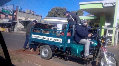 Bacheado con arena en Villarrica