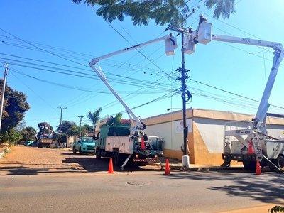 ANDE realizó mejoras en línea de media tensión en populosa zona de San Lorenzo