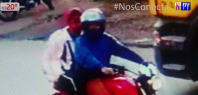 Motochorros en acción en Pirayú