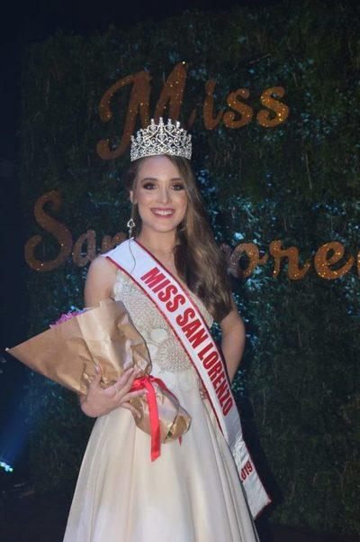 Fiorella Cáceres fue electa Miss San Lorenzo 2019