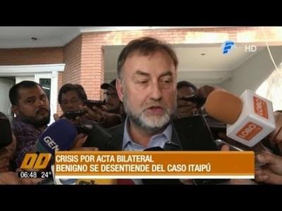 Benigno López se desentiende del caso Itaipú