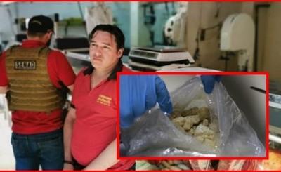 Carnicero detenido con metanfetamina proveniente de Europa