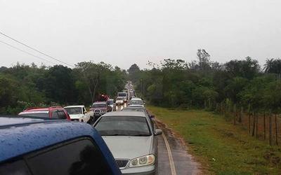 Rehenes en la ruta: Otra vez anuncian cierre de ruta 7 para esta tarde, en Minga Guazú