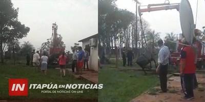 UNA VACA CAYÓ A UN POZO CIEGO Y TUVO QUE SER RESCATADA POR BOMBEROS