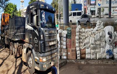 Aduanas decomisa tres camiones con mercaderías en Ciudad del Este