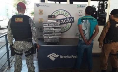 Paraguayo detenido al intentar meter droga al Brasil