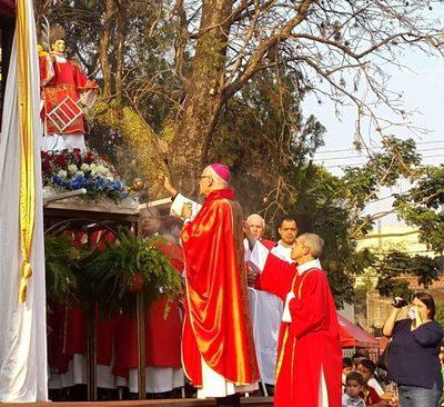 Himno a San Lorenzo Mártir fue creado en el 2.000