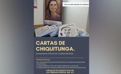 """Libro """"Cartas de Chiquitunga"""" será lanzado en CDE"""