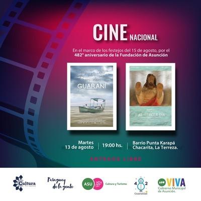 Hoy cine nacional en Punta Karapá por 482º aniversario de Asunción