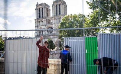 Empiezan los trabajos de limpieza de plomo en Notre Dame de París