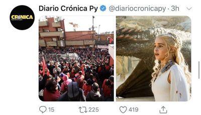 ¿Diario Crónica pide fuego para la multitud colorada?