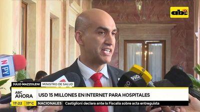 Destinarán 15 millones de dólares en internet para hospitales