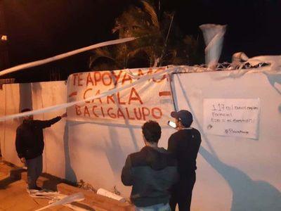 """Allegados a Bacigalupo escracharon a """"Bachi"""""""
