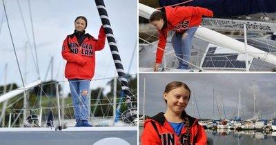 La joven ecologista ahora va a cruzar el Atlántico en velero, sin contaminar