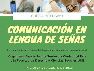 Curso intensivo de «Lengua de Señas» inicia el sábado