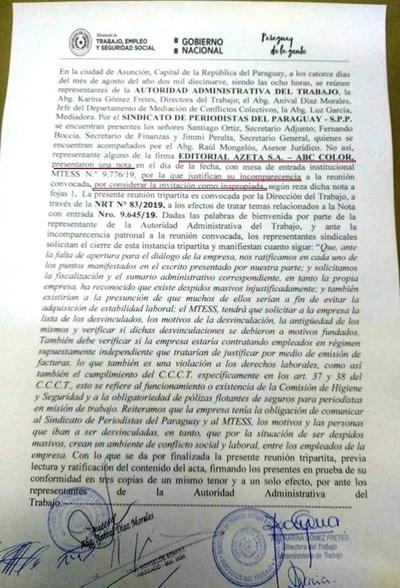 Despidos masivos en ABC: Directivos del diario de Zuccolillo se niegan al diálogo