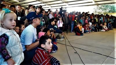 Cientos de niños festejaron su día en la Expo Rodeo Trebol