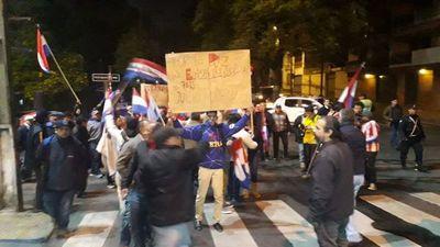 Movilización en el microcentro para exigir el juicio político