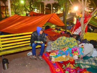 Campesinos llegan a Asunción para exigir juicio político