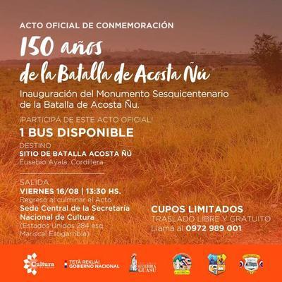 Inaugurarán un monumento en homenaje a los niños mártires de Acosta Ñu