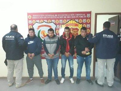 Suman cuatro aprehendidos tras asalto en Ciudad del Este