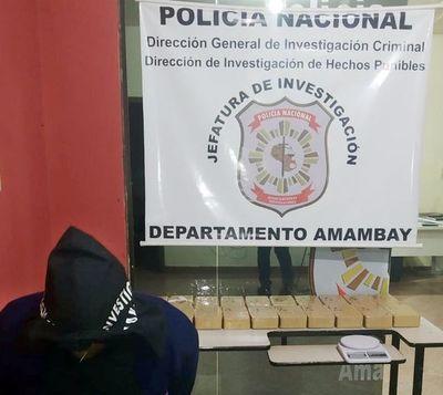 Cae un brasileño con unos 20 kilos de cocaína en Pedro Juan Caballero