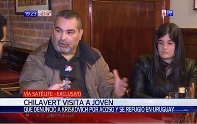 Chilavert visita a joven refugiada en Uruguay y critica labor fiscal