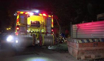 Motociclista chocó contra contenedor en Sajonia