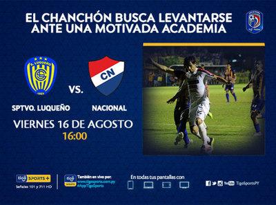 Luqueño recibe a Nacional en Campo Grande