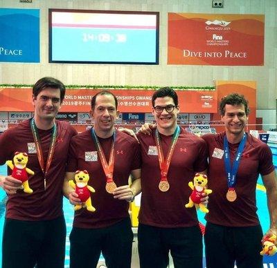 Paraguay logra campeonato mundial en natación master, en Corea