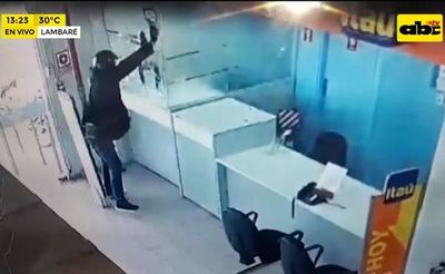 Asaltan boca de cobranza del Banco Itaú