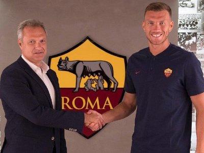 Dzeko renueva su contrato con Roma hasta 2022