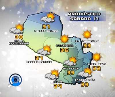 Sábado caluroso y descenso de temperatura desde mañana