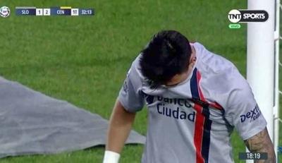 Blooper de Adam Bareiro en el fútbol argentino