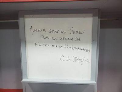 El gesto de Olimpia con Cerro Porteño