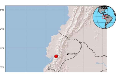 Registran temblor en Ecuador