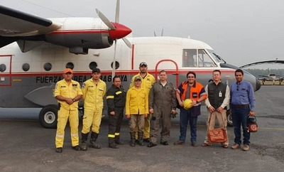 Gobierno envía suministros y personal para atención a afectados por incendio forestal