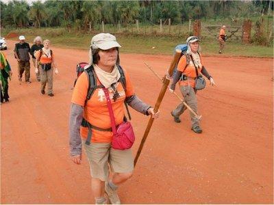 Peregrinos emprenden recorrido en el Camino de las Misiones
