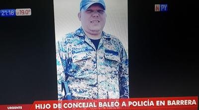 Hijo de concejal balea a policía en Capitán Bado