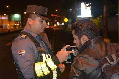 Caminera retiró 324 conductores alcoholizados de las rutas