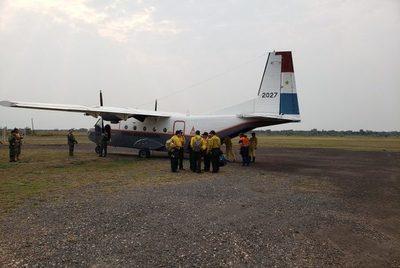 Montan centro de operaciones para controlar incendio en el Pantanal
