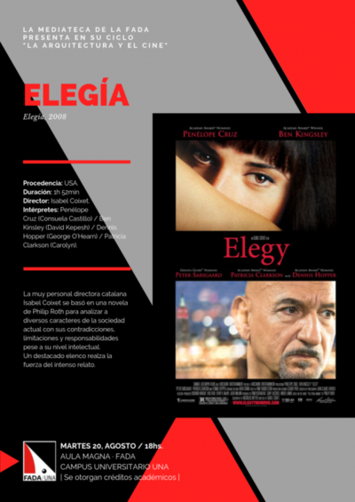 Exhibirán film Elegía en el ciclo de cine de la FADA