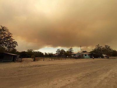 """Aire """"respirable"""" luego de incendio en Bahía Negra"""