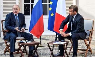Macron recibe a Putin en vísperas del G7
